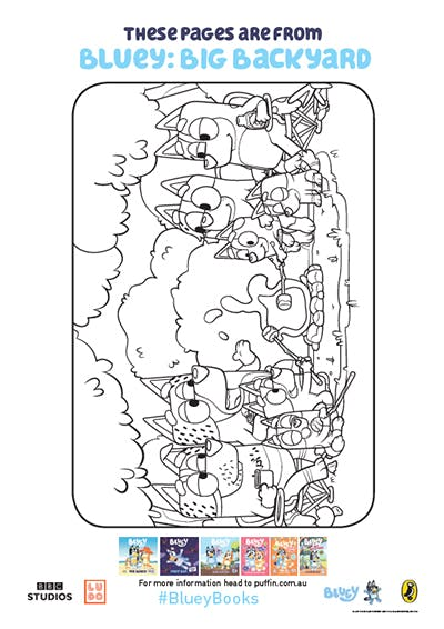 Bluey Colouring In Activities For The Whole Family Penguin Books Australia