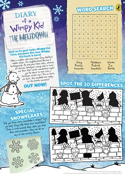 Activity Pack Diary Of A Wimpy Kid The Meltdown Penguin Books Australia