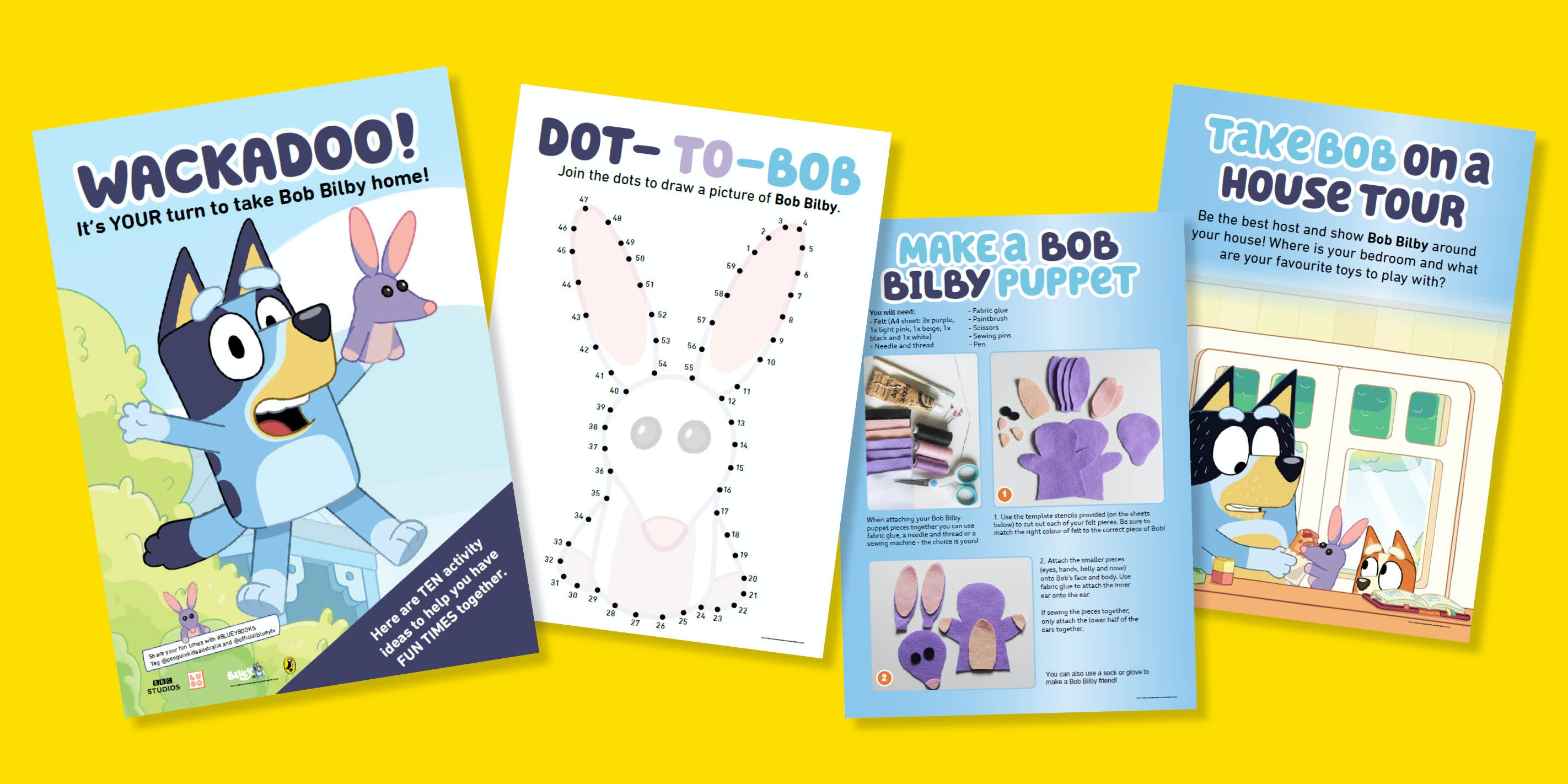 Bluey & Bob Bilby's activity pack