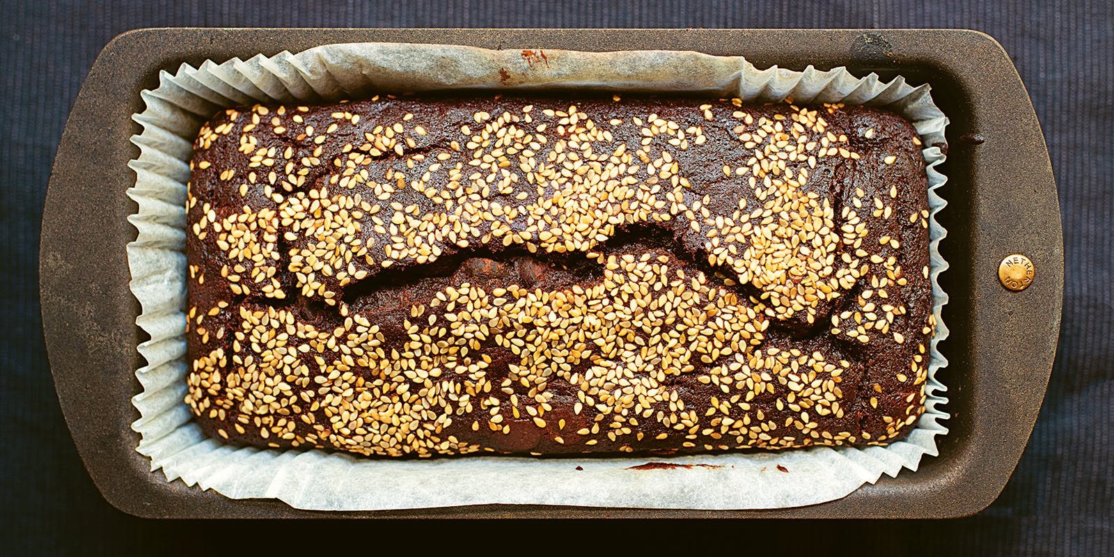 Chocolate, tahini banana bread
