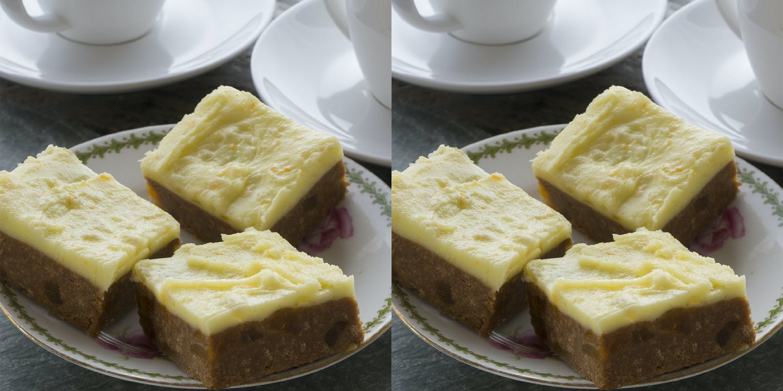 Ginger and apricot slice