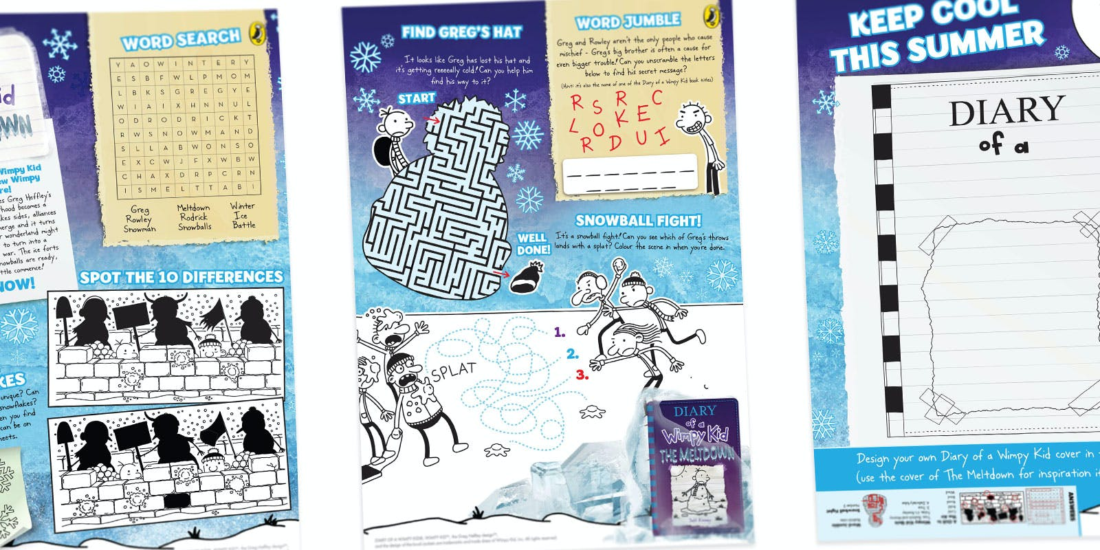 Activity pack - Diary of a Wimpy Kid: The Meltdown