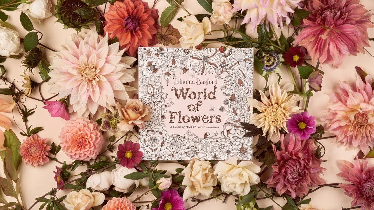 World Of Flowers By Johanna Basford Penguin Books New Zealand
